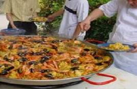 Paella cooking in Barcelona